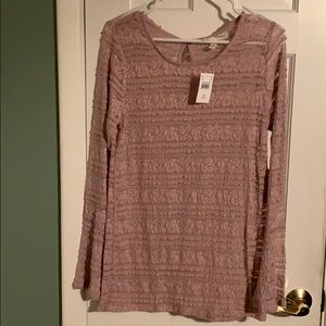 Jessica Simpson Sheer Maternity Top Size Large